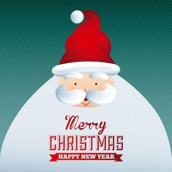Kerst ontwerp over blauwe achtergrond vectorillustratie