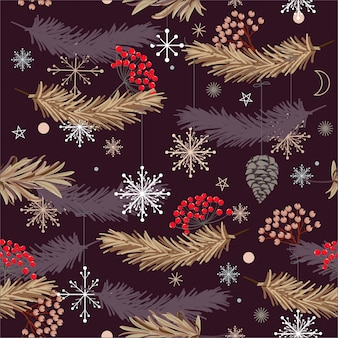Kerst ontwerpen, naadloze vector patroon