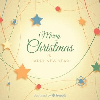 Kerst opknoping decoratie platte achtergrond