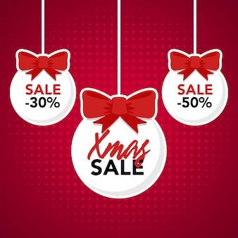 Kerst opknoping verkoop tag
