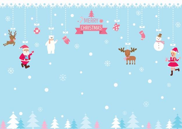 Kerst-ornamenten-achtergrond