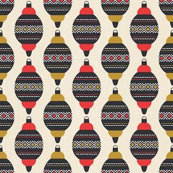 Kerst ornamenten naadloze patroon