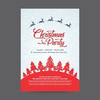 Kerst partij poster ontwerpsjabloon