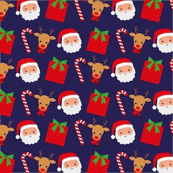 Kerst patroon achtergrond. illustratie