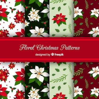 Kerst patroon collectie in platte ontwerp