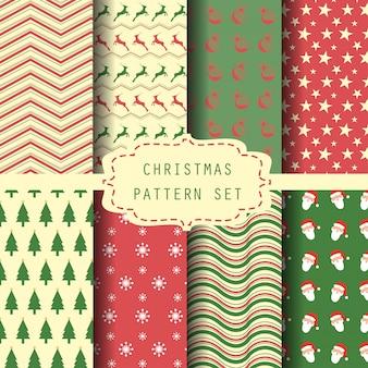 Kerst patroon ingesteld