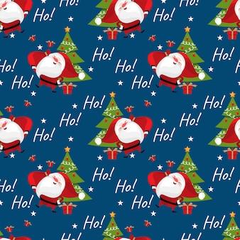 Kerst patroon met de kerstman