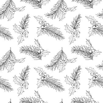 Kerst patroon naadloze achtergrond.