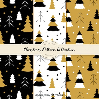 Kerst patroon van vlakke dennen
