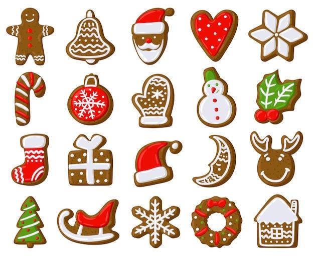 Kerst peperkoek koekjes vakantie traktatie koekjes gingerbread man xmas fir tree present box