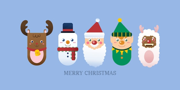Kerst pictogram met rendieren