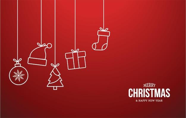 Kerst pictogrammen achtergrond