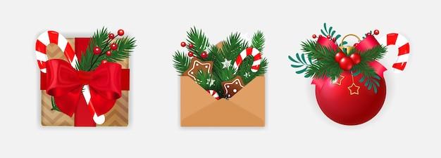 Kerst pictogramserie.
