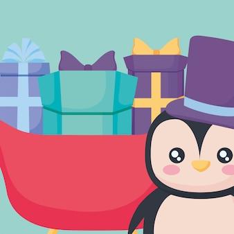 Kerst pinguïn ontwerp