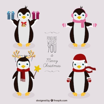 Kerst pinguïns