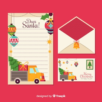 Kerst platte briefpapier sjabloon