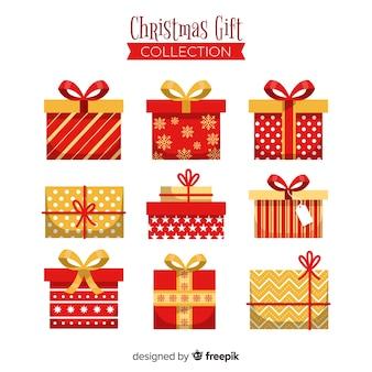 Kerst platte geschenken collectie