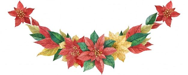 Kerst poinsettia garland