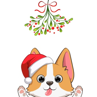 Kerst portret van schattige hond karakter