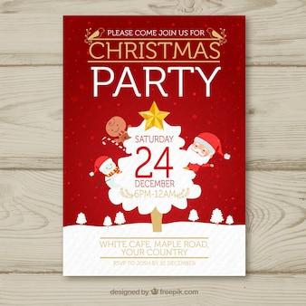 Kerst poster met klassieke elementen
