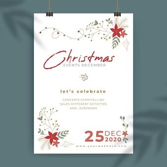 Kerst poster sjabloon