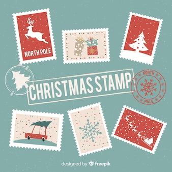 Kerst postzegelverzameling