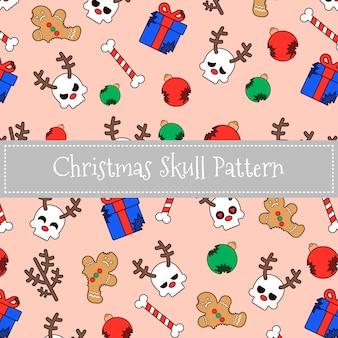 Kerst rendieren schedel patroon