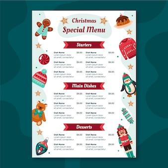 Kerst restaurant menusjabloon