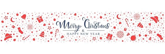 Kerst rode symbolen worden willekeurig gerangschikt op een witte achtergrond.