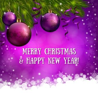 Kerst roze achtergrond met xmas decoraties