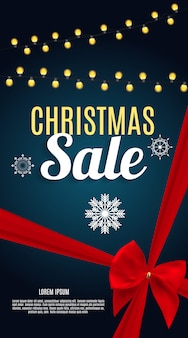 Kerst sale banner achtergrond. zakelijke kortingskaart.