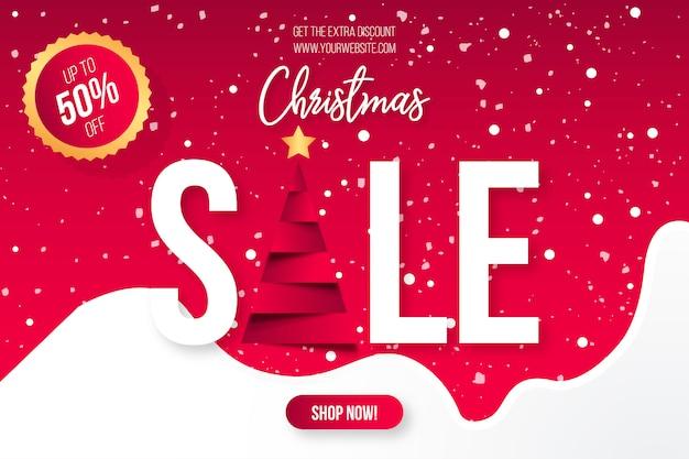 Kerst sale banner sjabloon