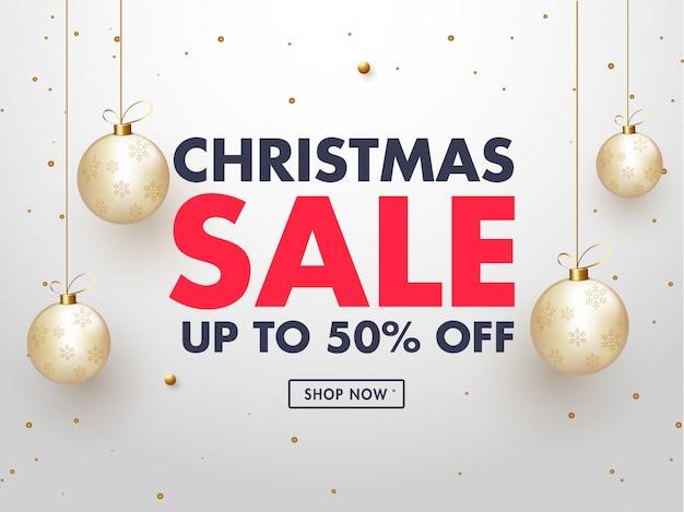 Kerst sale banner.