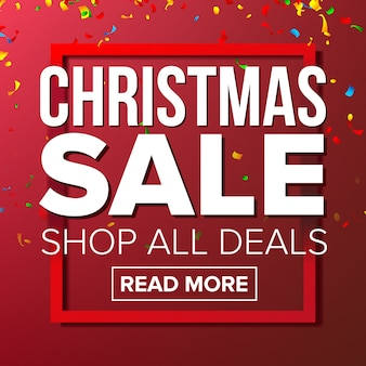 Kerst sale banner