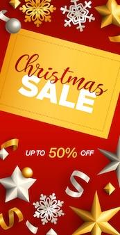 Kerst sale flyer ontwerp