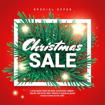 Kerst sale promotie banner met speciale aanbieding