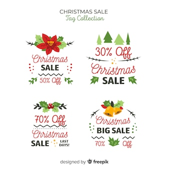 Kerst sale tag collection
