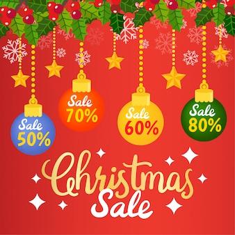 Kerst sale-tags en -coupons.