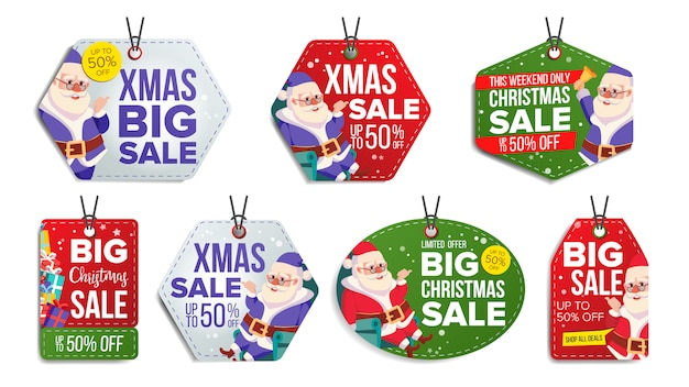 Kerst sale tags set