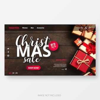 Kerst sale website template