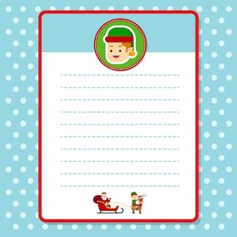 Kerst santa briefhoofd papier afdrukbaar