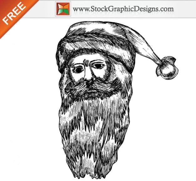 Kerst santa claus gratis vector illustratie