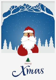 Kerst santa claus voor kerstvakantie