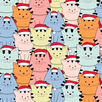 Kerst schattige baby kat patroon