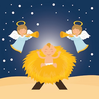 Kerst seizoen cartoon grafisch ontwerp