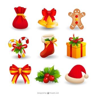 Kerst seizoen ornamenten
