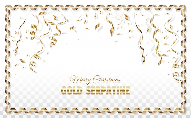 Kerst serpentijn poster sjabloon