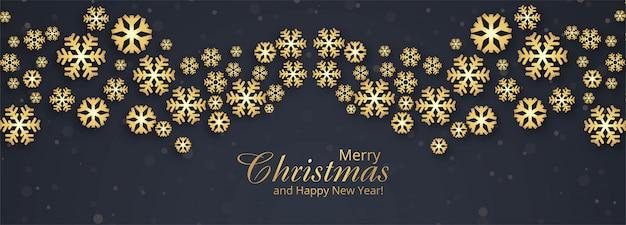 Kerst sjabloon voor spandoek met sneeuwvlokken