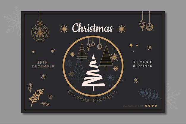 Kerst sjabloon voor spandoek Gratis Vector