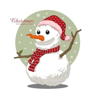 Kerst sneeuwpop vector ontwerp
